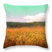 Through The Grasses Throw Pillow