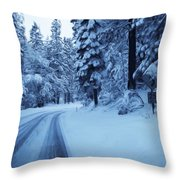 Through The Snow Throw Pillow