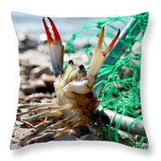Crab Throw Me Something Mister Throw Pillow