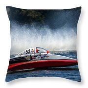 Thunder At The Lake Throw Pillow