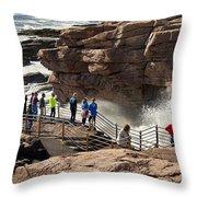 Thunder Hole Acadia Throw Pillow