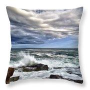 Thunder Hole Throw Pillow