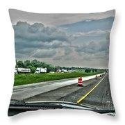 Thunder Road Throw Pillow