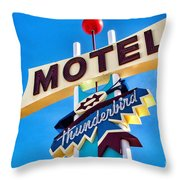 Thunderbird Motel Sign Throw Pillow