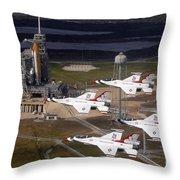Thunderbirds Fly Past Endeavour Throw Pillow