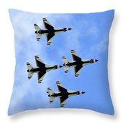 Thunderbirds In Flight Throw Pillow