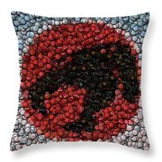 Thundercats Bottle Cap Mosaic Throw Pillow by Paul Van Scott
