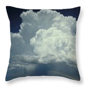 Thunderclouds And Rinbow Throw Pillow