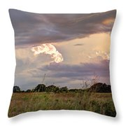 Thunderclouds Throw Pillow