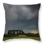 Thunderstorm Over Sugar Hill Throw Pillow