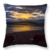 Thunderstorms At Sunrise Throw Pillow