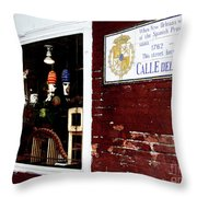The Window On Calle Del Maine Throw Pillow