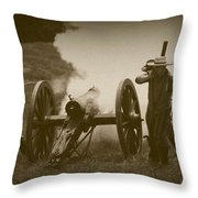 Thwarting A Union Advance Throw Pillow