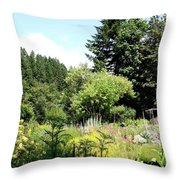 Thyme Garden I Throw Pillow