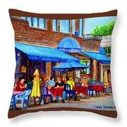 Ti Amo Restaurant Prince Arthur Street Montreal Throw Pillow