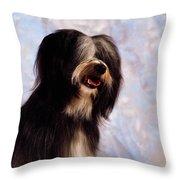 Tibetan Terrier Throw Pillow