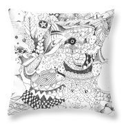 Tick Tack Toe With The Universe Throw Pillow