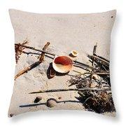 Tidal Treasures Throw Pillow