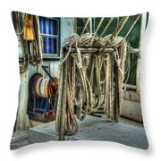 Tied Up Lines Throw Pillow by Michael Thomas