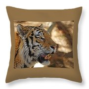 Tiger De Throw Pillow by Ernie Echols