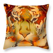 Tiger Illustration Throw Pillow