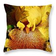 Tiger Iris Throw Pillow