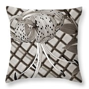 Tiger Lily And Rusty Gate Throw Pillow