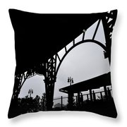 Tiger Stadium Silhouette Throw Pillow