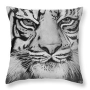 Tiger's Eyes Throw Pillow