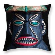 Tiki Mon Throw Pillow