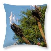 Tiki Torch Throw Pillow