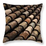 Tile In Dubrovnik Croatia Throw Pillow