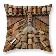 Tile Roof In Croatia Throw Pillow