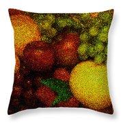 Tiled Fruit  Throw Pillow by Mauro Celotti
