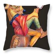 Till Eulenspiegel - The Merry Prankster Throw Pillow
