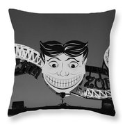 Tillie's Scream Zone In Black And White Throw Pillow