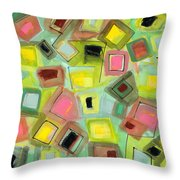 Tilted Boxes Throw Pillow