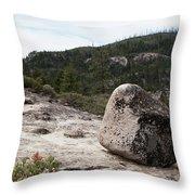 Tilted Rock Throw Pillow