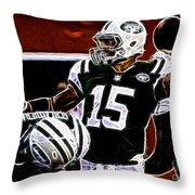 Tim Tebow  -  Ny Jets Quarterback Throw Pillow
