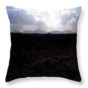 Timanfaya Ground Throw Pillow