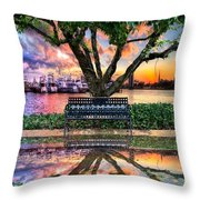 Time For Reflection Throw Pillow by Debra and Dave Vanderlaan
