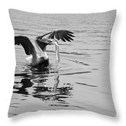 Time For Sushi In Black And White Throw Pillow
