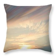 Time-lapse Clouds At Sunset Throw Pillow