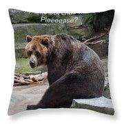 Time Out Bear Throw Pillow