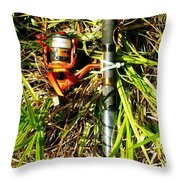 Time To Fish Throw Pillow