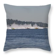 Time To Race Throw Pillow