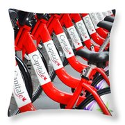 Time To Ride Throw Pillow