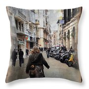 Time Warp In Malaga Throw Pillow