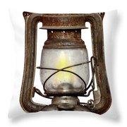Time Worn Kerosene Lamp Throw Pillow