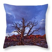 Timed Exposure Of Sunset Clouds Throw Pillow